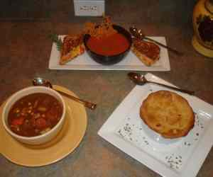 Tomato Soup and Beef Vegetable Soup