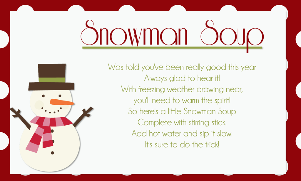 It is a graphic of Nifty Free Snowman Soup Labels