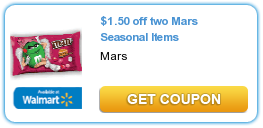 Printable Manufacturer Coupon – Save $1.50/2 on Mars Seasonal Items