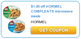 Printable Manufacturer Coupon: Save $1/2 Hormel Compleats Microwave Meals