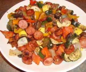 Sausage and Roasted Vegetables
