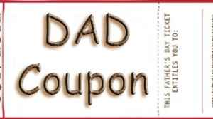 Fathers Day Coupon or Ticket Books
