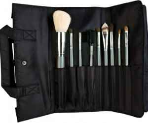 hair and makeup brushes