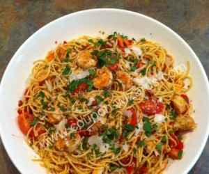 Spaghetti with Crab and Shrimp