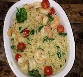 Weighing In Wednesday- My Favorite New Garlic Shrimp Pasta Recipe
