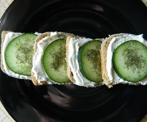 A Quick and Easy Appetizer-Mini Cucumber Sandwiches