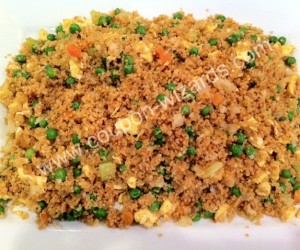 Stir Fried Whole Wheat Couscous
