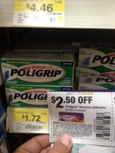 Poligrip Money Maker at Walmart
