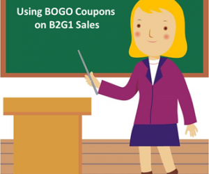 Using BOGO Coupons on B2G1 Free Sales
