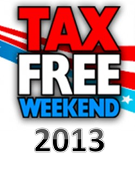 Tax Free Holiday 2013 Schedule