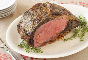 Mushroom and Herb Standing Rib Roast Recipe