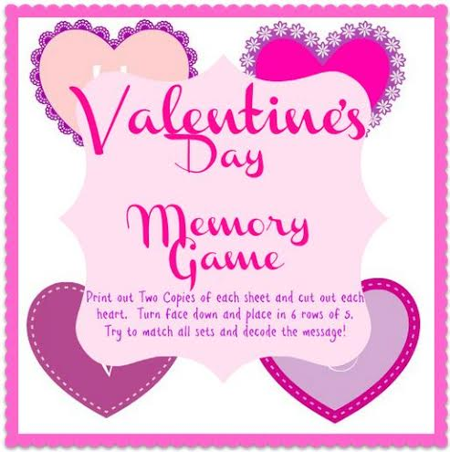 Valentines Memory Match Game