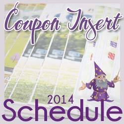 Click here for the 2014 Coupon Insert Schedule