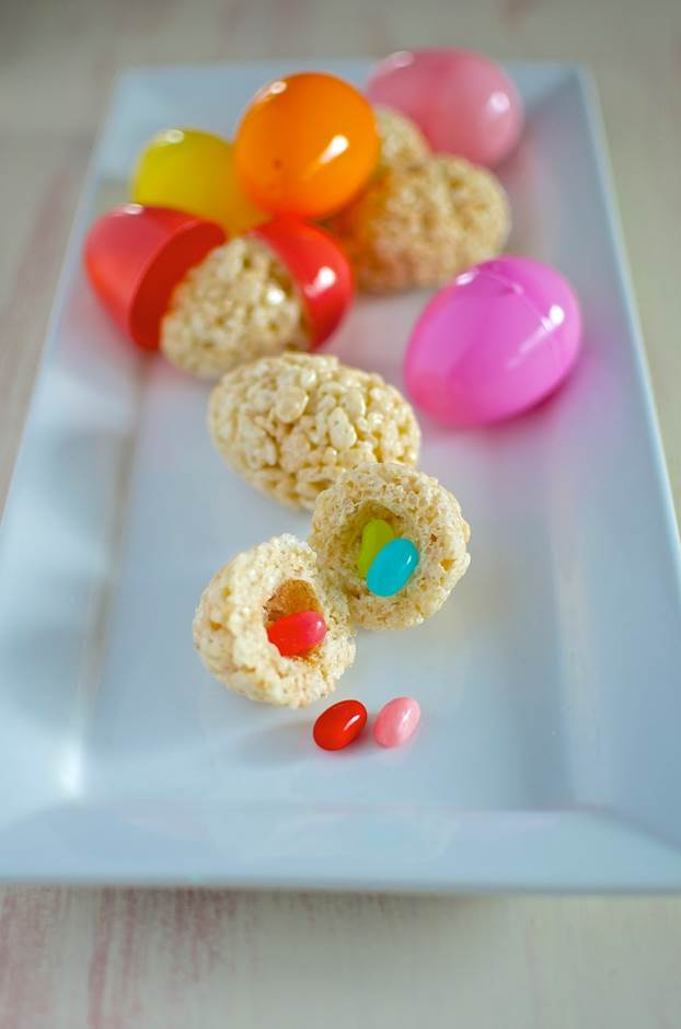 Jelly bean rice crispy treats