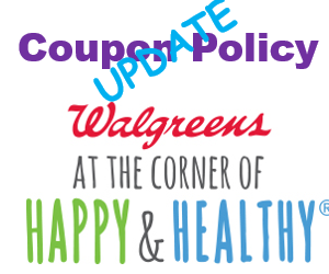 Walgreens Coupon Policy – UPDATED 5/29/14
