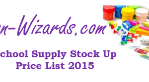 School Supply Stock Up Prices for 2015