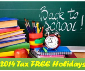 Back To School Sales Tax Holiday 2014 Schedule