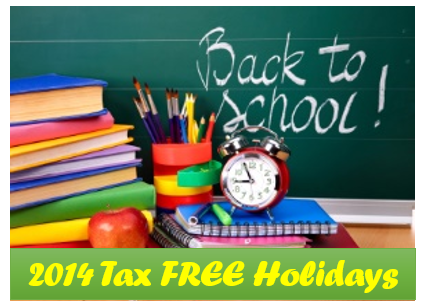 Sales Tax Holiday 2014