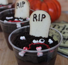 Graveyard Pudding Cups for Halloween