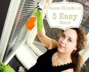 Clean Blinds in 3 Easy Steps