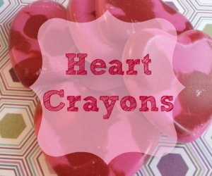 Crayon Heart Valentines Craft