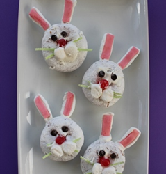 Easter Bunny Mini Donuts