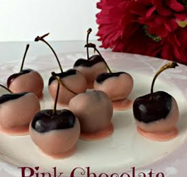 Pink Chocolate Covered Cherries – 2 Indgredients, 4 Steps!