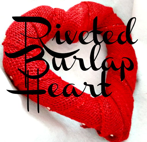 Riveted Burlap Heart Wreath