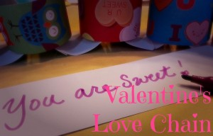 Valentine Love Chain-Kids Valentine Craft