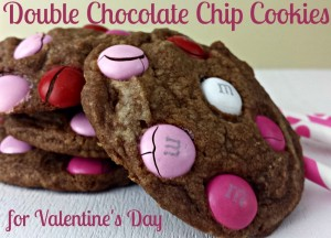 Double Chocolate Chip Cookies For Valentine's Day