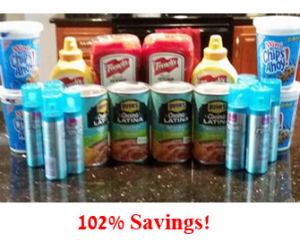Walmart Trip on 4/12 with 102% Savings!