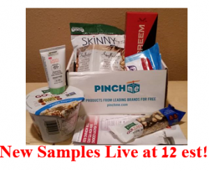 PINCHme – Free Samples Boxes from PINCHme Today at Noon!