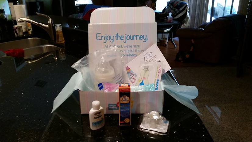 Freebie - Walmart Welcome Baby Box Real