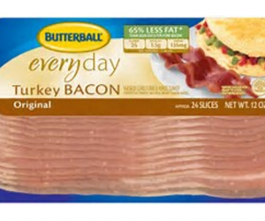 Printable Coupon – SAVE $0.55 on Butterball Turkey Bacon