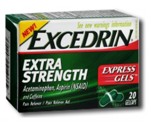 Printable Coupon – SAVE $1.50 on Excedrin, 20ct+
