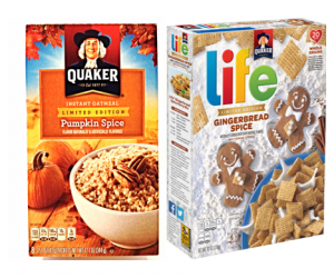 Printable Coupon – SAVE $1 on Quaker Seasonal Flavors
