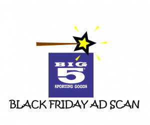 Black Friday Big 5 Sporting Goods Ad Scan for 2017