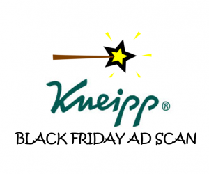 Black Friday Kneipp Ad Scan for 2017