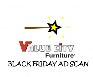 Black Friday Value City Furniture Ad Scan for 2017