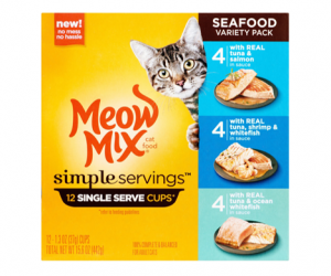 Printable Coupon – SAVE $2.50 off Meow Mix Simple Servings 12ct