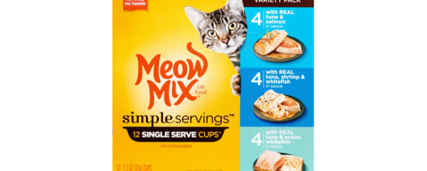 Meow Mix Simple Servings 12ct new