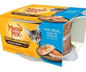 Printable Coupon – SAVE $0.55 on Meow Mix Simple Servings