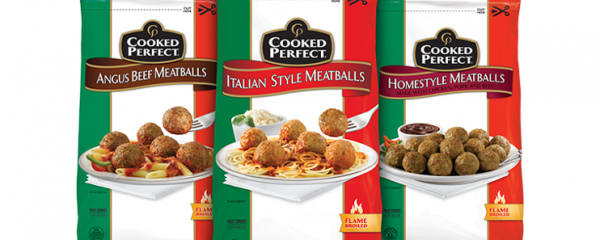 Cooked Perfect Meatballs 3 Bags new