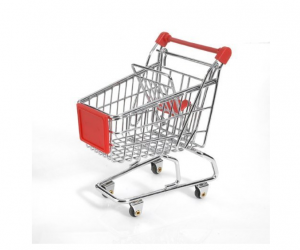 Mini Shopping Cart in Red on Amazon