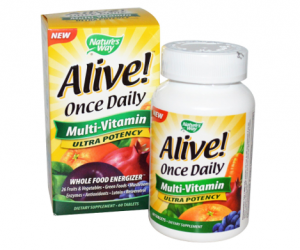 Printable Coupon – SAVE $2 on Alive! Multivitamins