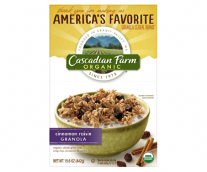 Printable Coupon – SAVE $1 on Cascadian Farm Cereal