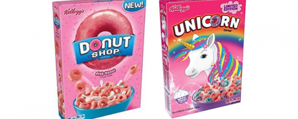 Kellogg's Donut Shop & Unicorn Cereals new