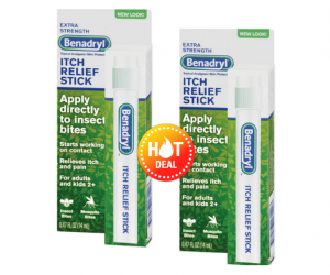 Walgreens Deal Alert – Benadryl Itch Relief ALA $0.12 ea after BRPs