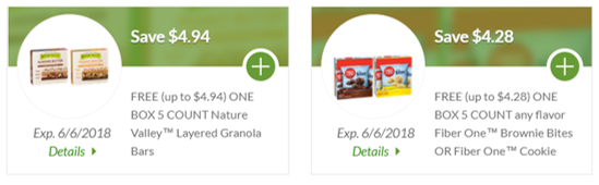 Freebie Alert - Nature Valley & Fiber One at Publix Pic Only