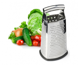 Cheese Grater in Stainless Steel with Ultra Sharp Blades
